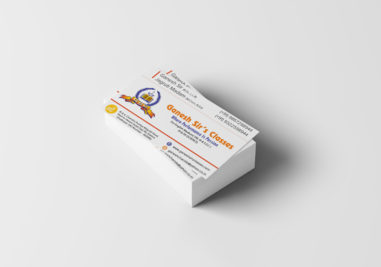 Ganesh Sir's Classes Visiting Card Image