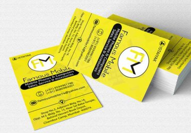 Famous Mobile Business Card Image