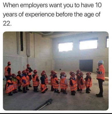 Employers demand for experience