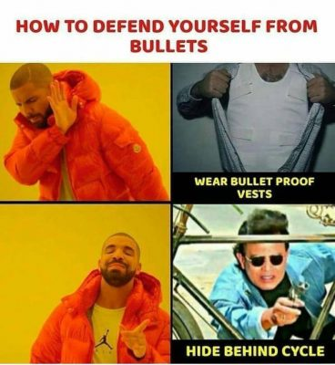 Bollywood style defending from bullet. method