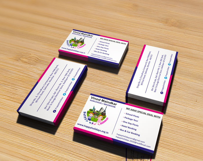 Happy Holidays Business Card Image