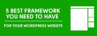 2016: Top 5 WordPress Theme Framework image