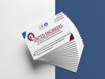 United Engineers Busiess Card Image