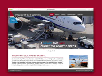 Cyrus Freight Website Image