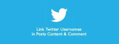Automatically Link Twitter Usernames in Posts Content & Comment ? image